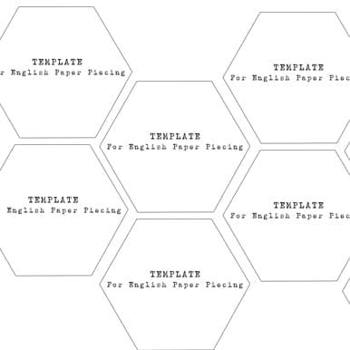 graphic regarding Printable Hexagon Template named Absolutely free Hexagons 1 3/4 inch Templates - Down load - Alice