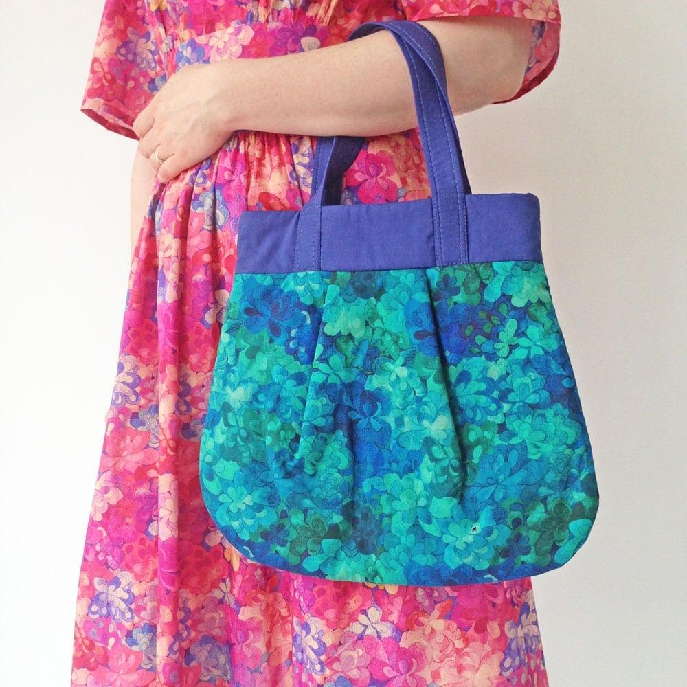 Emerald bay dress and bag liberty fabric