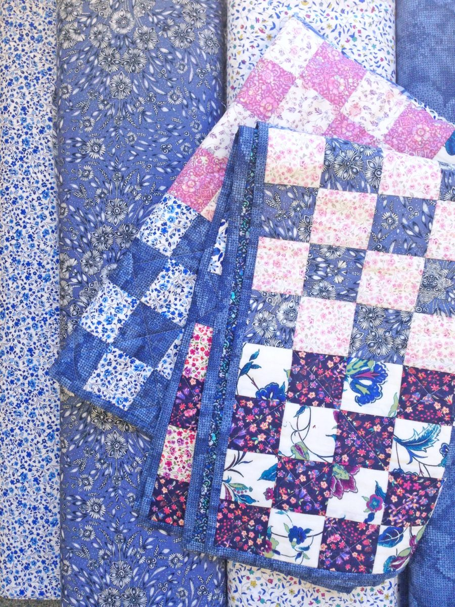 Liberty fabric with Be Squared Quilt