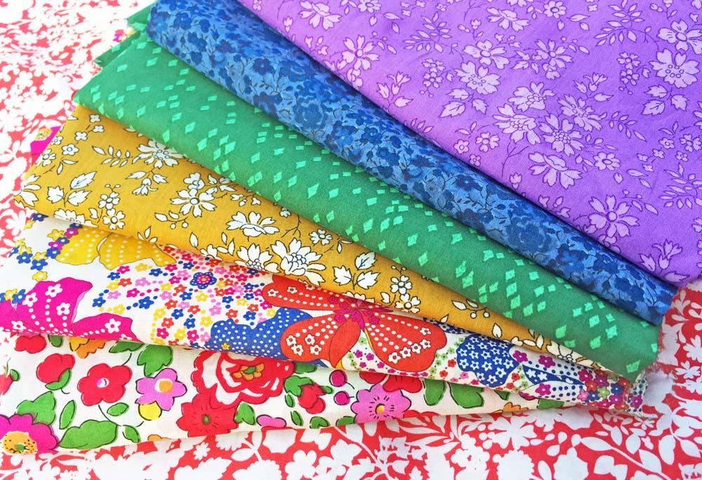Liberty Stars Fabric Club - rainbow liberty