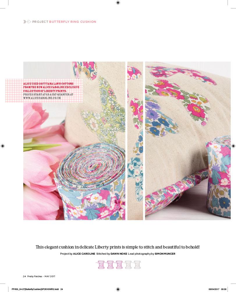 Beautiful Liberty butterfly cushion