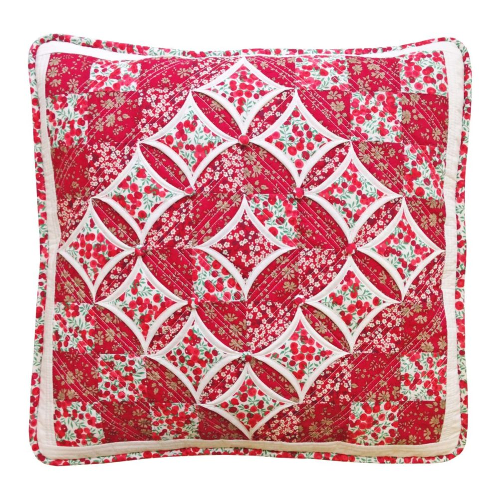 Christmas Cathedral Windows Cushion
