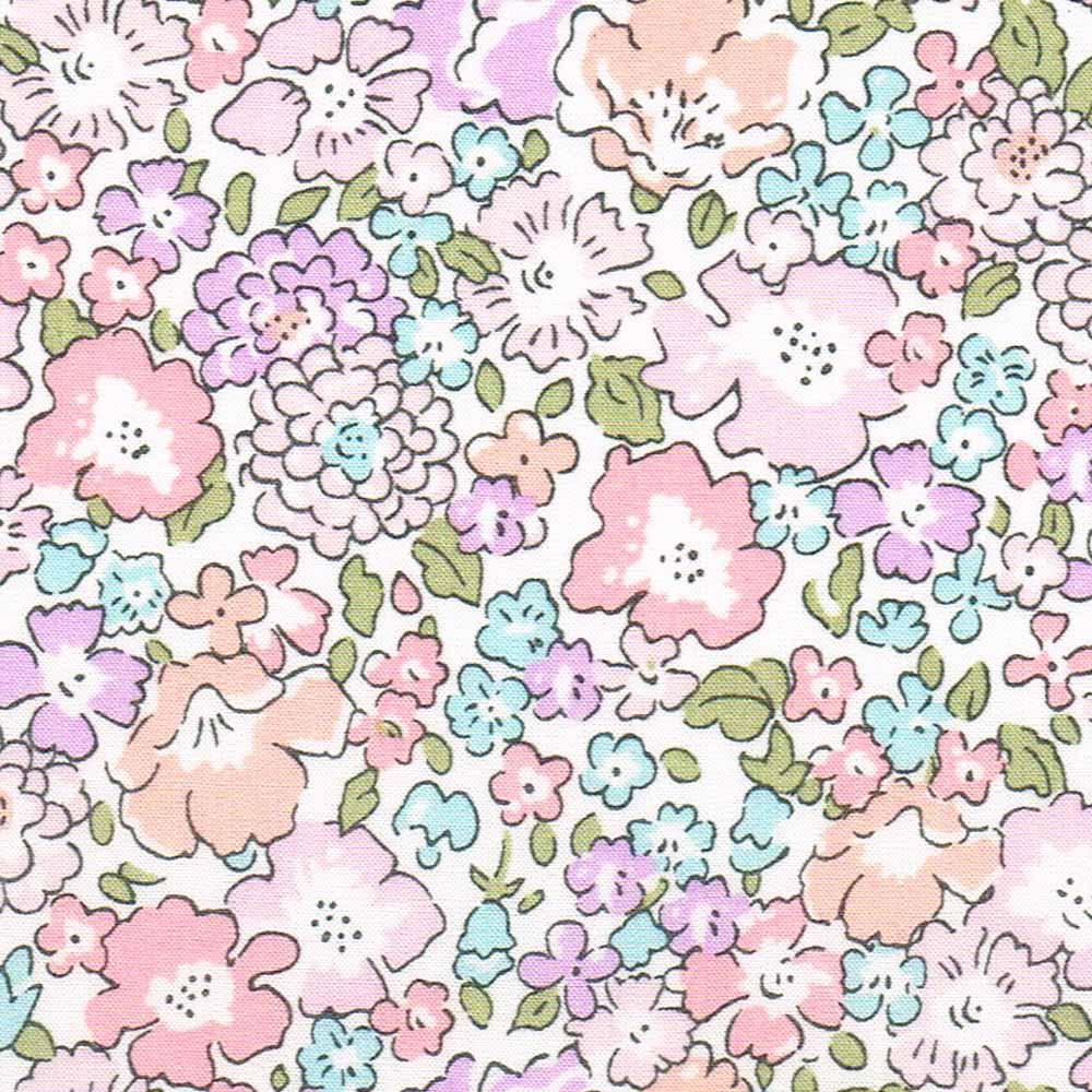 Liberty Fabric Betsy E Purple Tana Lawn Cotton 1m