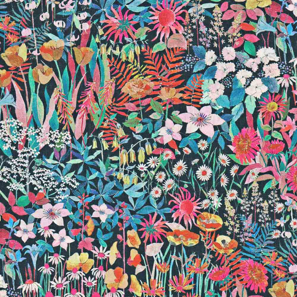 - 100/% COTTON FABRIC A FARIA FLOWERS SMALL - LIBERTY TANA LAWN