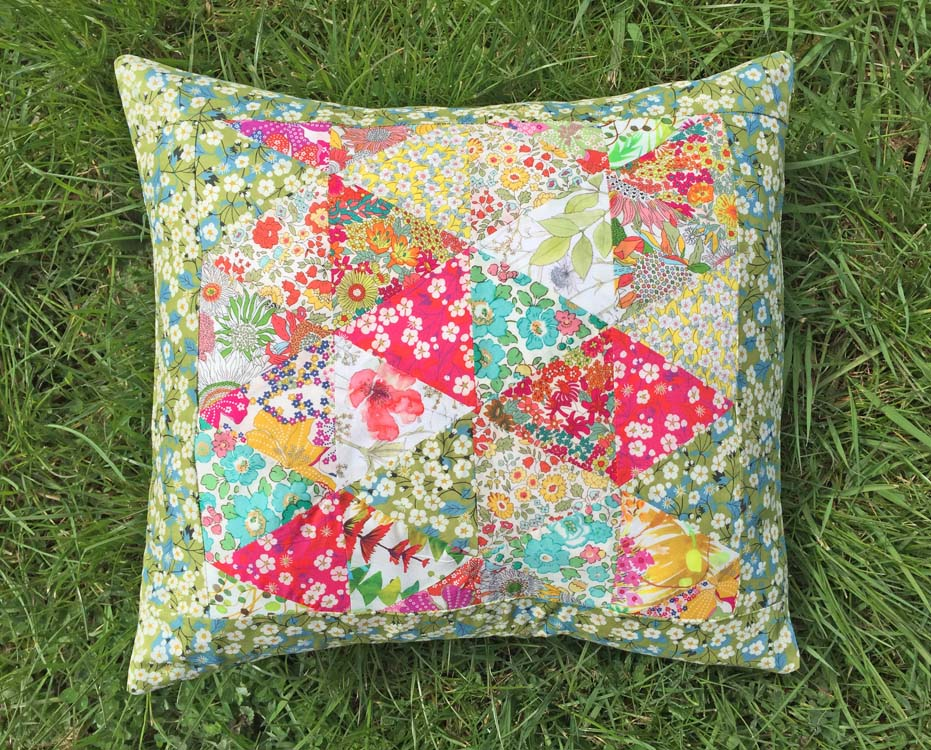 Liberty Triangles Patchwork Cushion