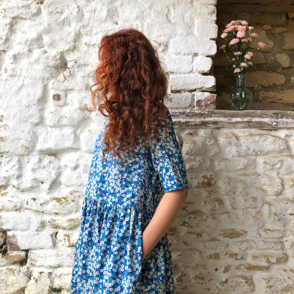 Beautiful Blue Liberty Dress