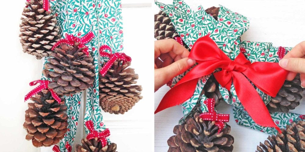 Liberty Pine Cone Decoration