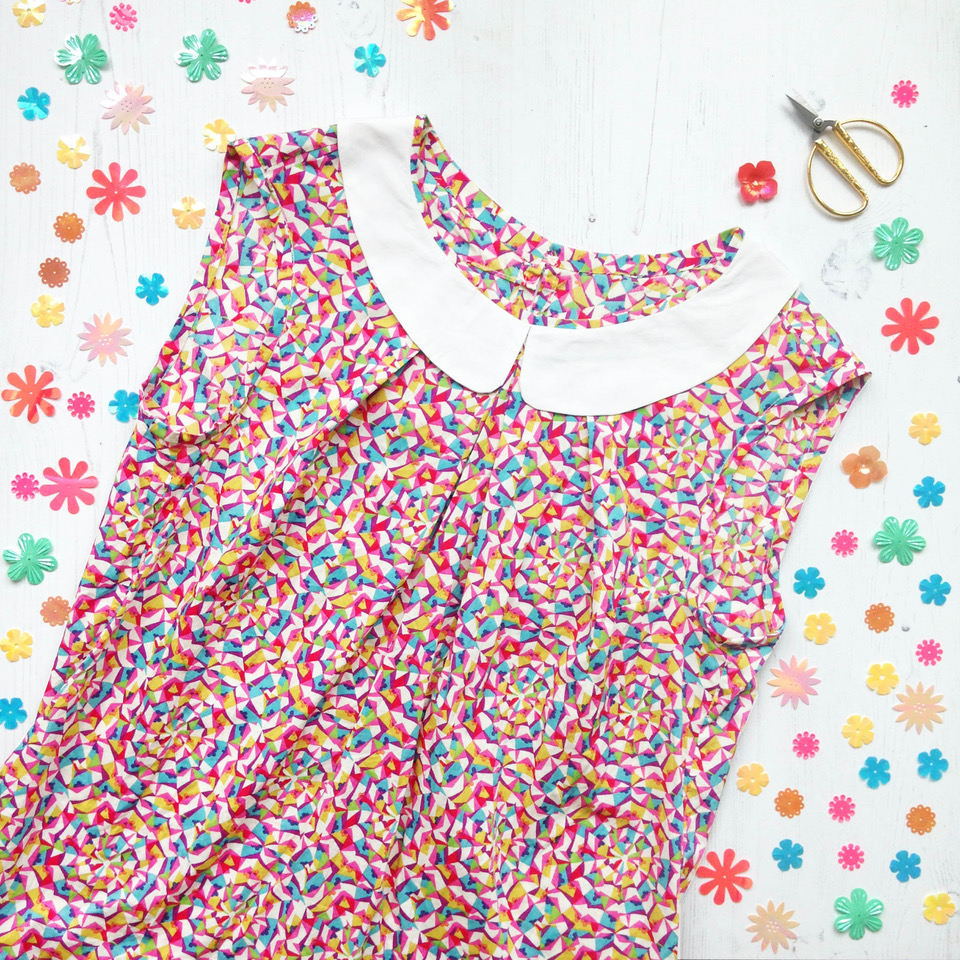 Liberty Top With A Cute Collar