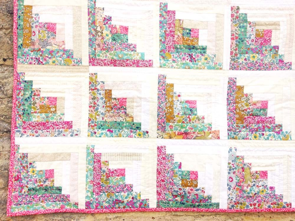 Log Cabin Quilt in Liberty