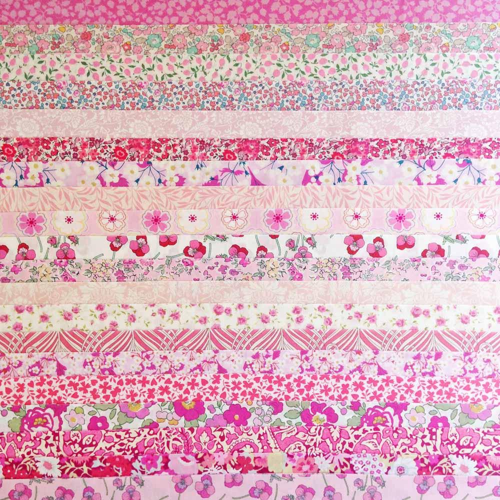 Liberty Fabric Jelly Roll Peach Pink Tana Lawn 20
