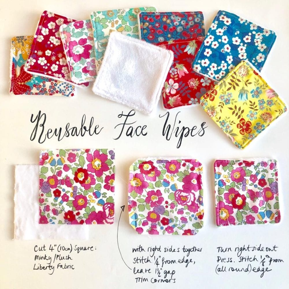 Reusable Liberty Face Wipes