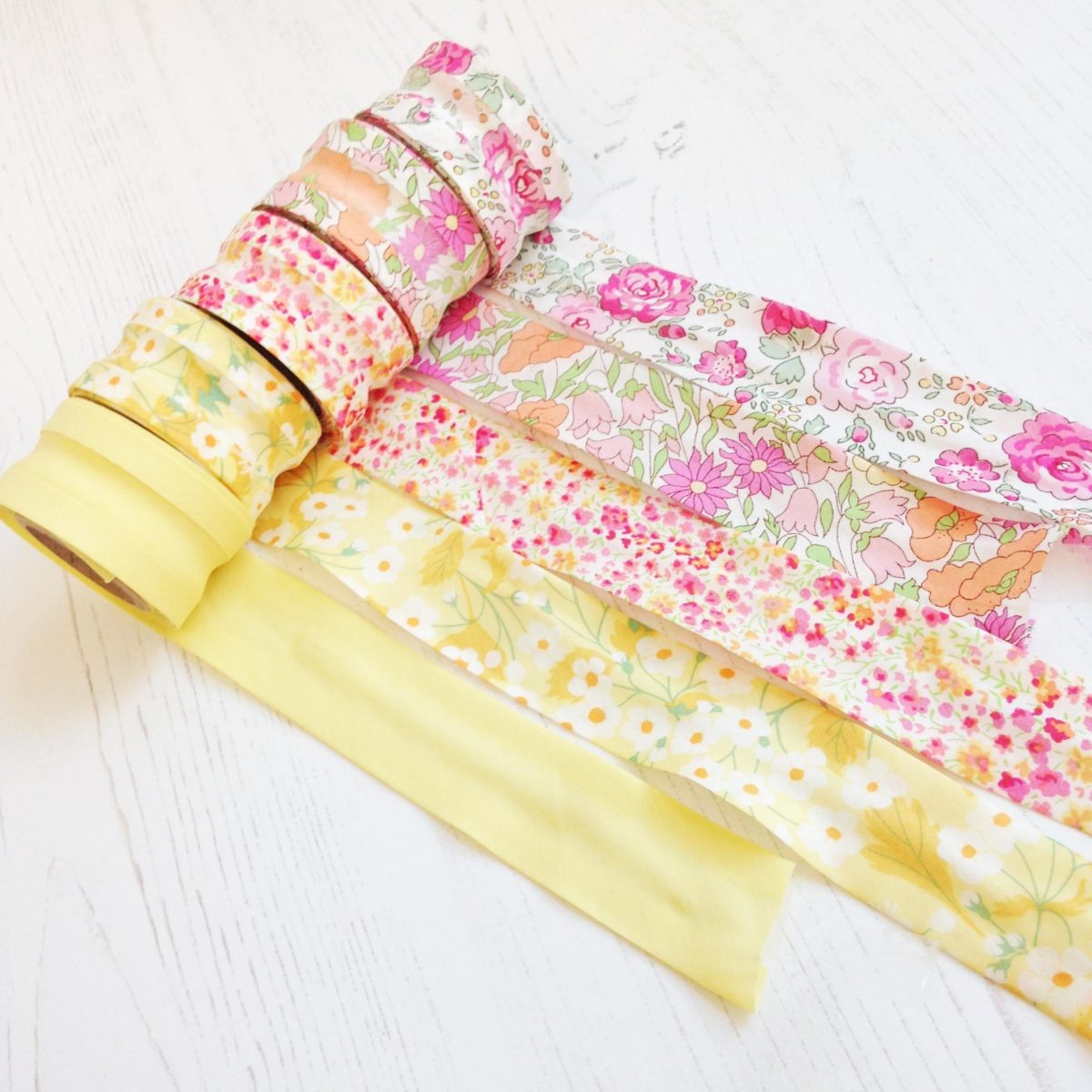 Liberty Fabric Bias Binding Sunshine Selection 5 Rolls
